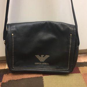 Handbags - Giorgio Armani Black Leather Handbag